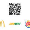 QR-код для промо McDonald's, Burger King і Subway в друкованій рекламі